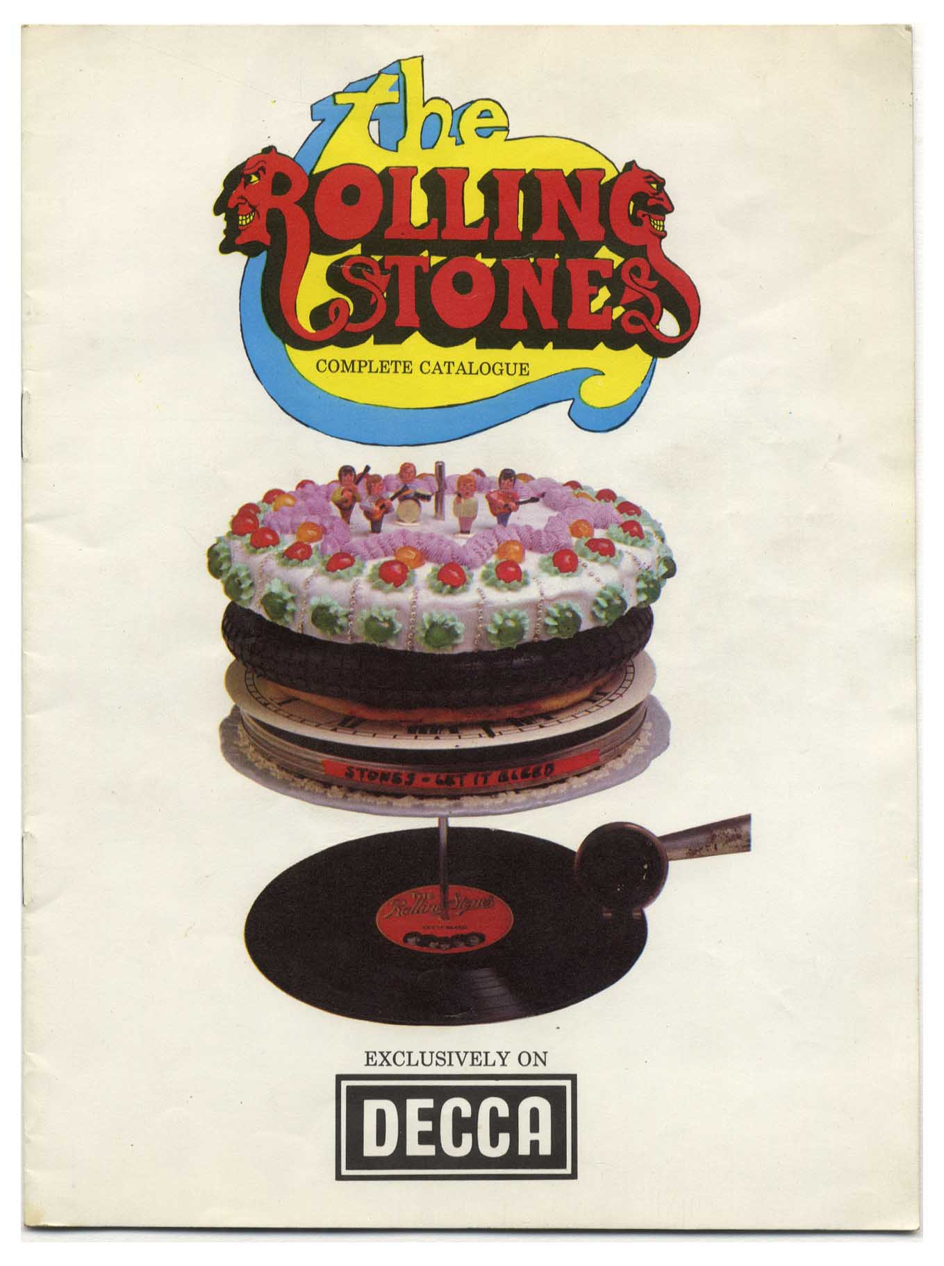 DECCA records Rolling Stones Complete LP catalogue releases up to Let It  Bleed 1969