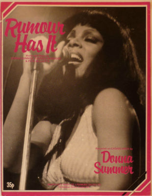 DONNA SUMMER Rumour has it UK Vintage Sheet Music 1977