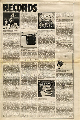 Dr John GINGER BAKER Joni Mitchell POCO LP Reviews article/cutting/clipping 1970