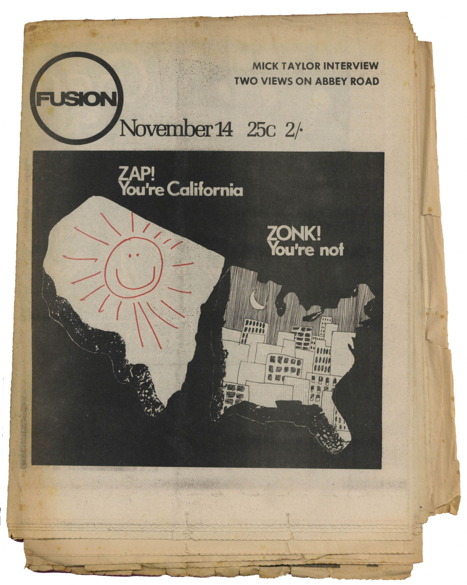 Fusion Magazine No 21 November 1969 Rolling Stones Mick Taylor Interview
