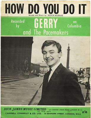 GERRY & PACEMAKERS How do you do it Original UK Sheet Music from 1962