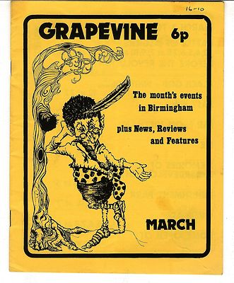 GRAPEVINE MAGAZINE ft Stackridge Interview Birmingham March 1972