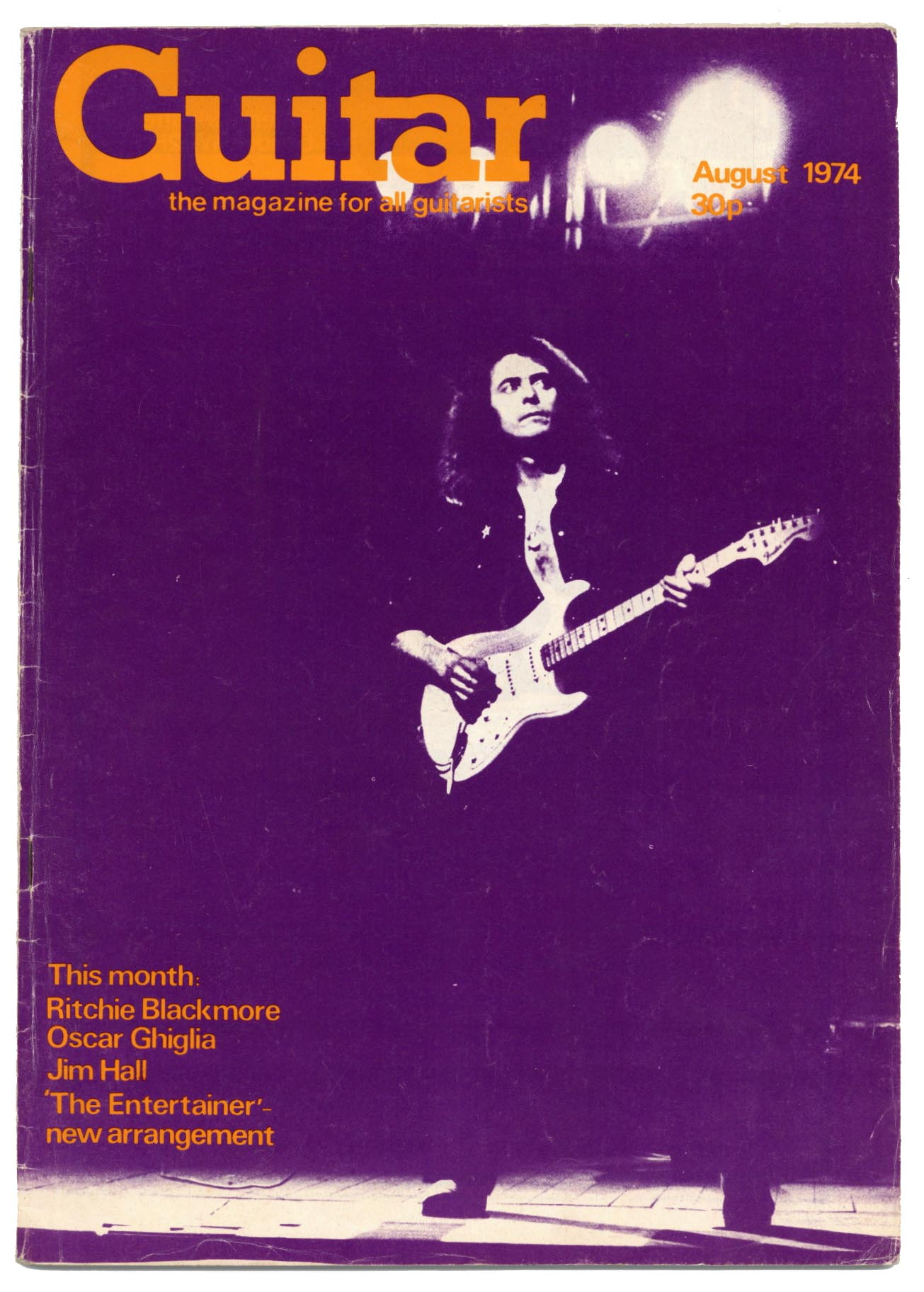 Guitar Magazine Vol 3 No 8 August 1974 Ritchie Blackmore Oscar Ghilia Jim Hall
