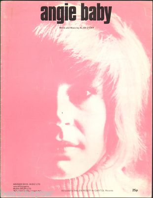 HELEN REDDY Angie Baby UK Vintage Sheet Music