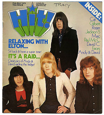 HIT Magazine 21 July 1973 Sweet Paul McCartney Bolan Jackson 5 Cat Stevens Faces