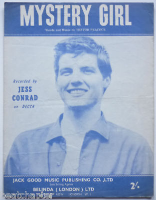 JESS CONRAD Mystery Girl Rare Vintage Sheet Music