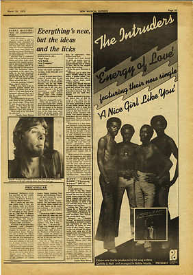 John Mayall New Year New Band Review Music Press article/cutting/clipping 1975
