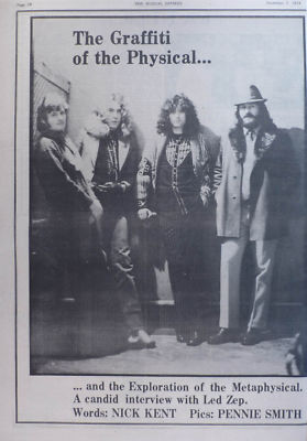 Led Zeppelin Graffiti of the Physical original Vintage Music Press article 1974