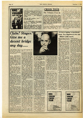 LOL COXHILL Interview Music Press article/cutting/clipping 1974
