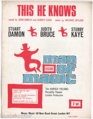MAN OF MAGIC This He Knows Houdini Vintage Sheet Music