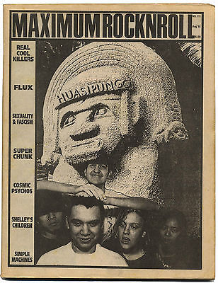 Maximum Rocknroll Magazine No 111 Flux of Pink Indians Cosmic Psychos August 1992