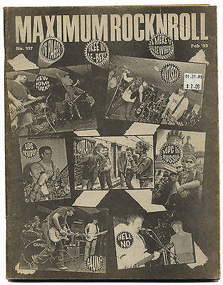 Maximum Rocknroll Magazine No 117 Los Crudos Naked Angels Sour Mash Hell No La Souris February 1993