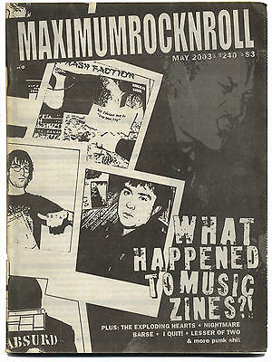 Maximum Rocknroll Magazine No 240 Lesser of Two Apers Barse Nightmare Flesh Packs May 2003