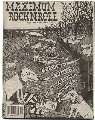 Maximum Rocknroll Magazine No 284 Regress Subhuman Condenada White Rose January 2007