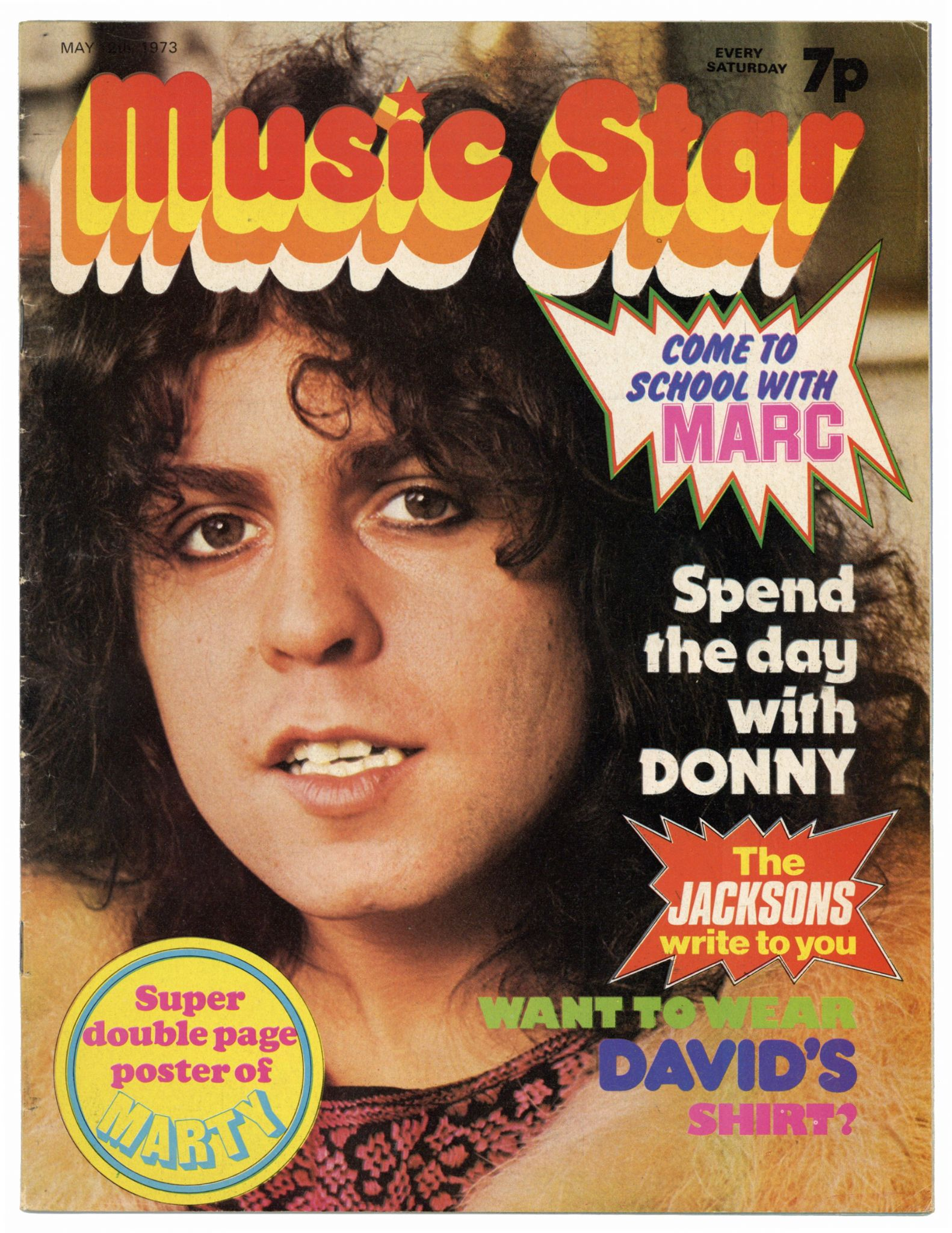 MUSIC STAR Magazine 12 May 1973 Marc Bolan Slade Michael Jackson Marty Kristian