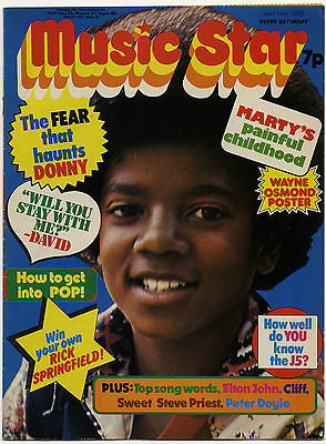 MUSIC STAR Magazine 14 April 1973 Michael Jackson Sweet David Cassidy Marc Bolan Alice Cooper Roxy