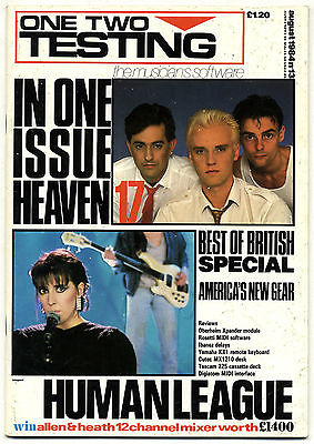 One Two Testing Magazine August 1984 Europeans Heaven 17 Human League Jerry Wexler