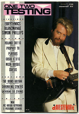 One Two Testing Magazine February 1984 Lemmy Eurythmics Simon Phillips Blancmange