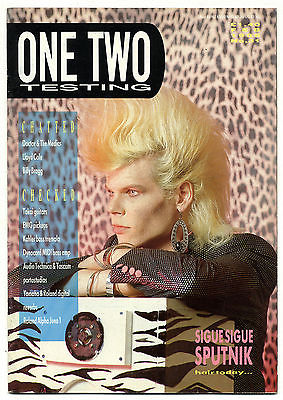 One Two Testing Magazine February 1986 Billy Bragg Lloyd Cole Sigue Sputnik Dr Medics