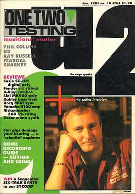 One Two Testing Magazine January 1985 U2 Phil Collins Ray Russell Feargal Sharkey