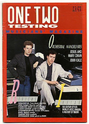 One Two Testing Magazine July 1985 John Cale OMD Jesus & Mary Chain Richard Thompson