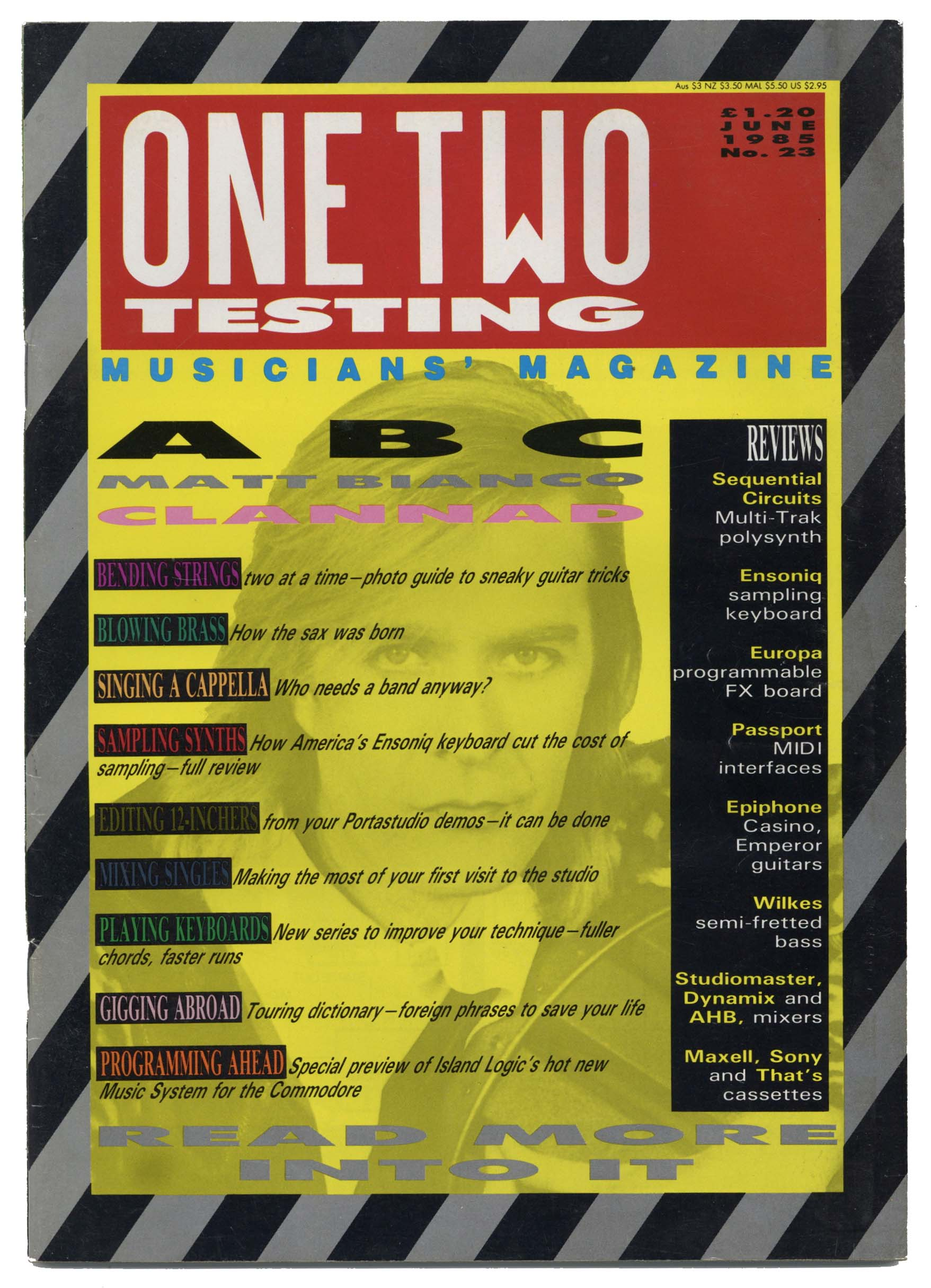 One Two Testing Magazine June 1985 Clannad ABC Matt Bianco