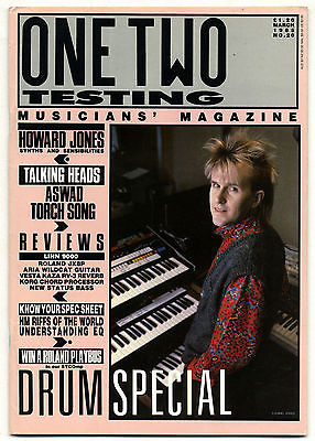One Two Testing Magazine March 1985 Talking Heads Jerry Harrison Howard Jones Aswad William Orbit
