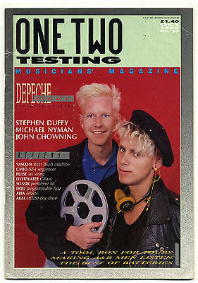 One Two Testing Magazine October 1985 Depeche Mode Michael Nyman Stephen Duffy