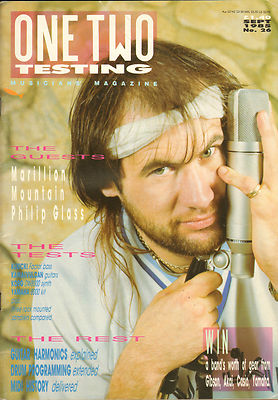 One Two Testing Magazine September 1985 Philip Glass Mountain Leslie West Marillion