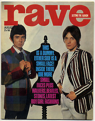 Rave Magazine August 1966 The Action Brian Jones Beatles Small Faces Walker Brothers