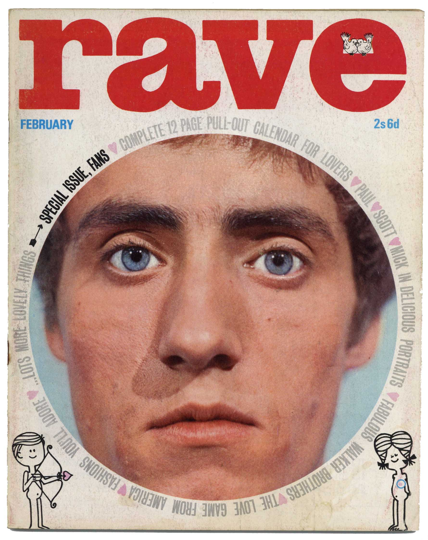 Rave Magazine February 1966 The Beatles The Who Walker Brothers Gene Pitney