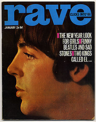 Rave Magazine January 1966 Beatles Rolling Stones Who Yardbirds Walker Brothers PJ Proby