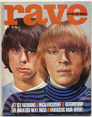 Rave Magazine May 1966 Mods Yardbirds Action Rolling Stones Mick Jagger Alan Price