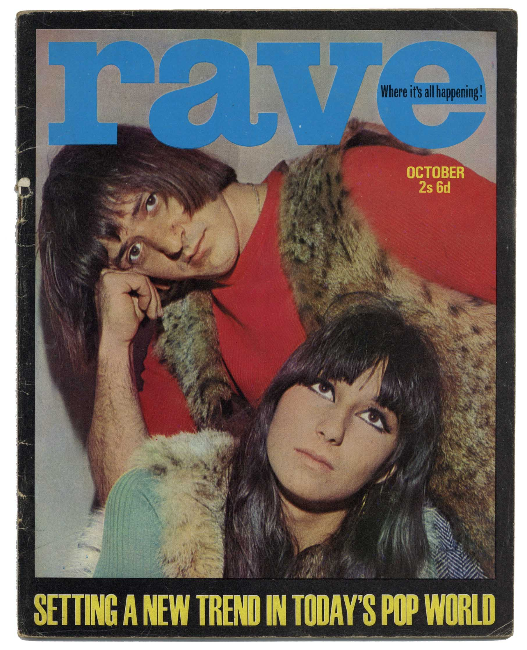 Rave Magazine October 1965 Mick Jagger Byrds Elvis Presley Beatles Sonny & Cher