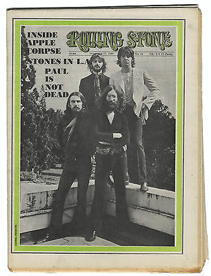 ROLLING STONE Magazine No 46, 15 November 1969  Stones in LA Jimi Hendrix Country Joe Beatles Apple