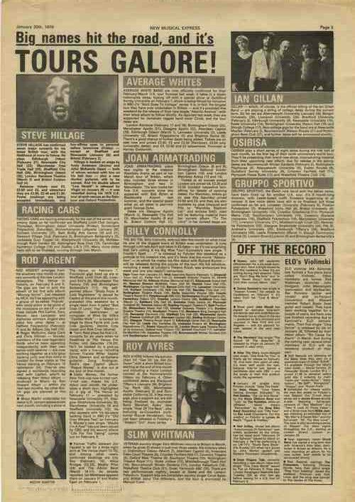 Steve Hillage IAN GILLAN ARGENT AWB press article cutting/clipping 1979