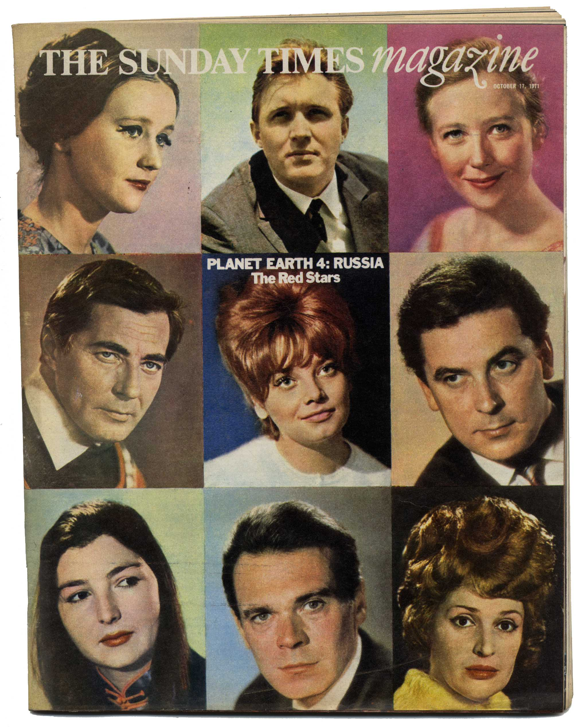 SUNDAY TIMES Magazine 17 October 1971 Russia Soviet film actors London's upper class