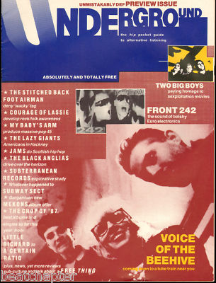 Underground Magazine No 0 Front 242 Mekons Subway Sect J A M S